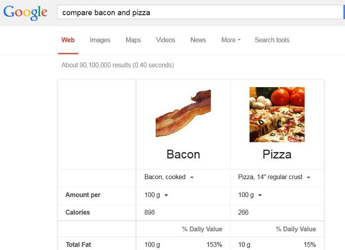 google-compare-nutrition