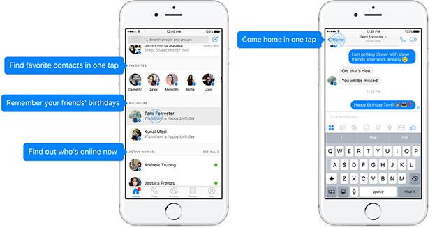 Facebook Messenger ปรับโฉม