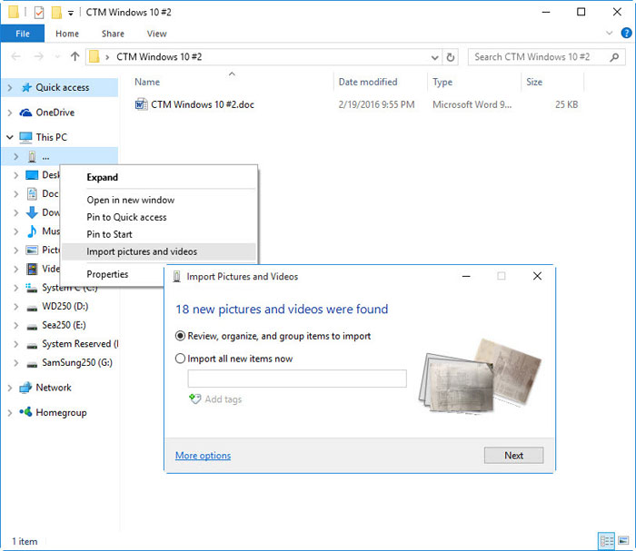 ปรับแต่งไฟล์ภาพบน Windows 10