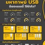 มหากาพย์ USB มีเยอะแบบนี้ ใช้ยังไง?