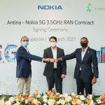 โนเกีย ประกาศวางเครือข่าย 5G standalone RAN Sharing เครือข่าวแรกในเอเชียตะวันออกเฉียงใต้กับ Antina